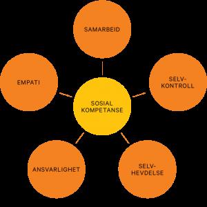 Modell av de fem viktigste ferdighetene i sosial komeptanse
